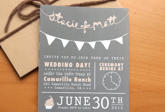 budget wedding ideas DIY invitations Etsy weddings chalkboard chic