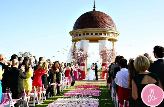 photo of inspiring wedding ceremony aisles California weddings 2