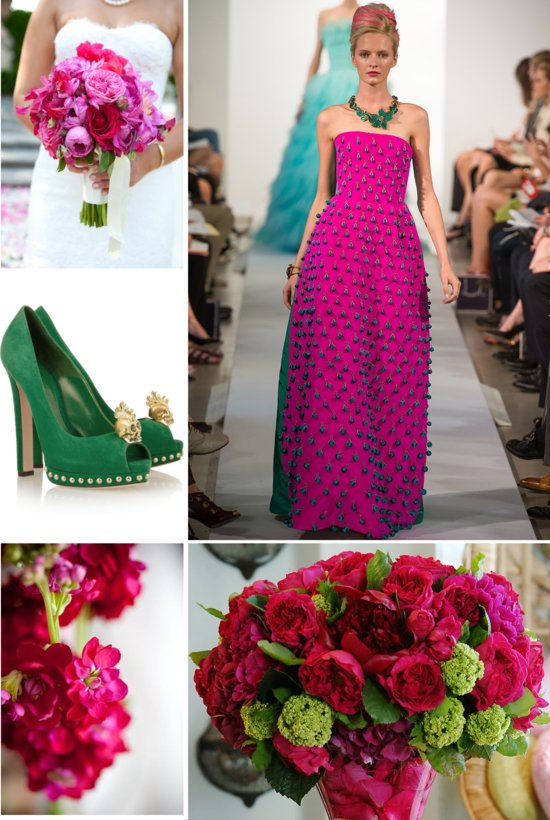 photo of fashion week to white aisle wedding color inspiration Carolina Herrera