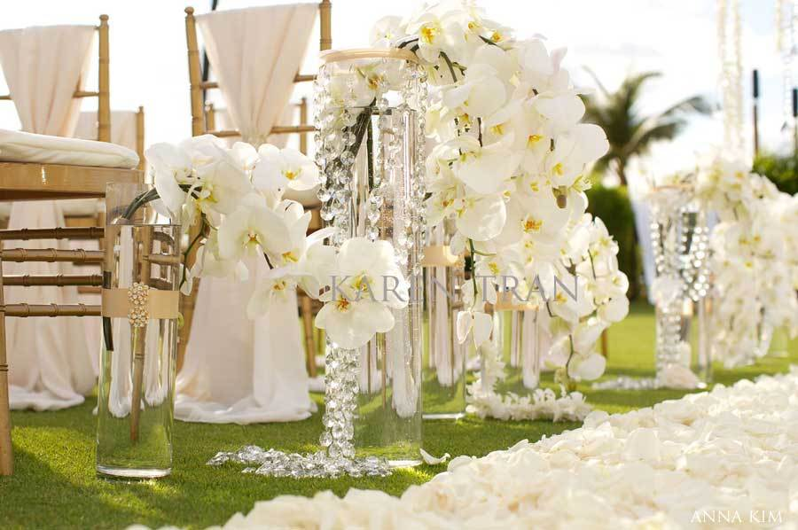 Elegant Wedding Ceremonies Outdoors Ivory Orchid Wedding