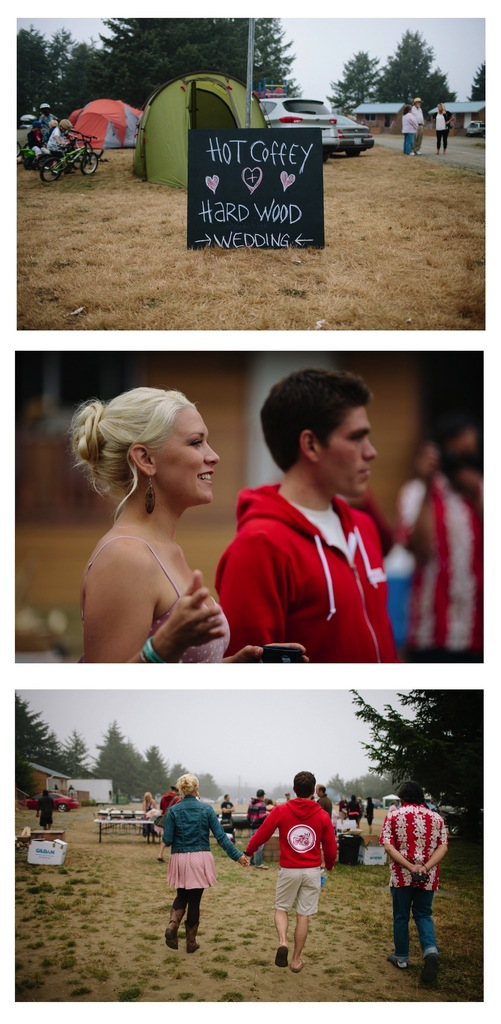 photo of Surfer Wedding in Seattle with Camping, S'Mores, and a Rock n' Roll Reception