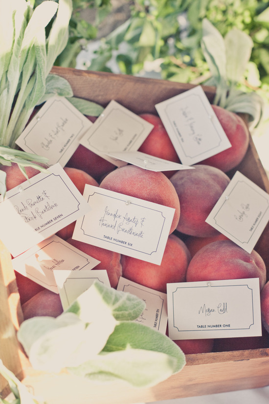 elegant real weddings lavender peach wedding colors unique escort cards