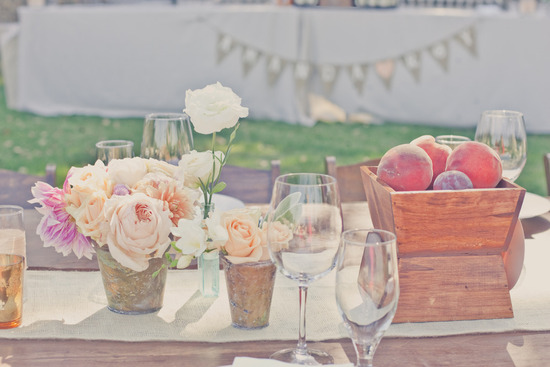 photo of Dreamy Wine Country Wedding with a Pastel Peach and Lavender Palette