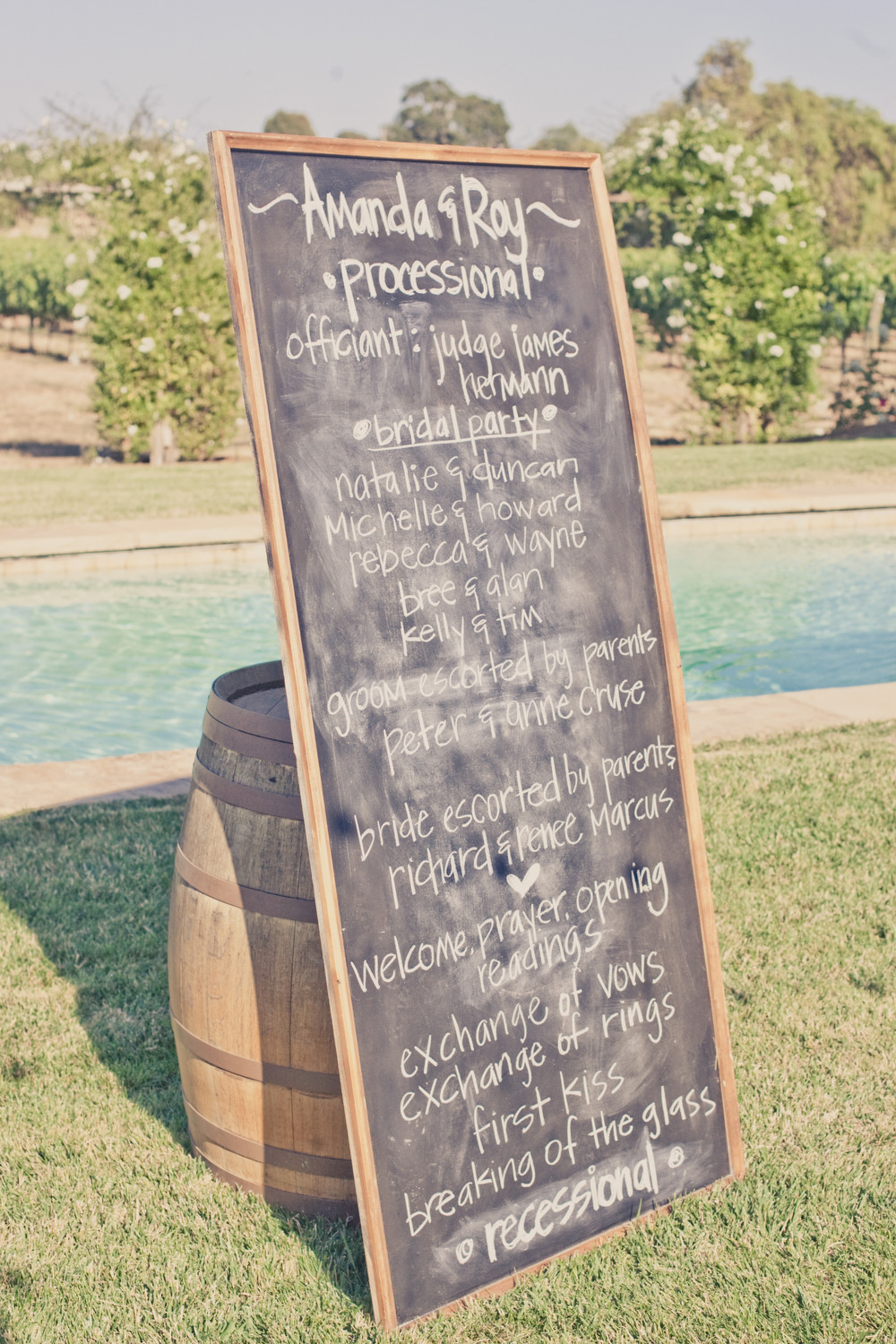 Elegant-real-weddings-lavender-peach-wedding-colors-chalkboard-program.full