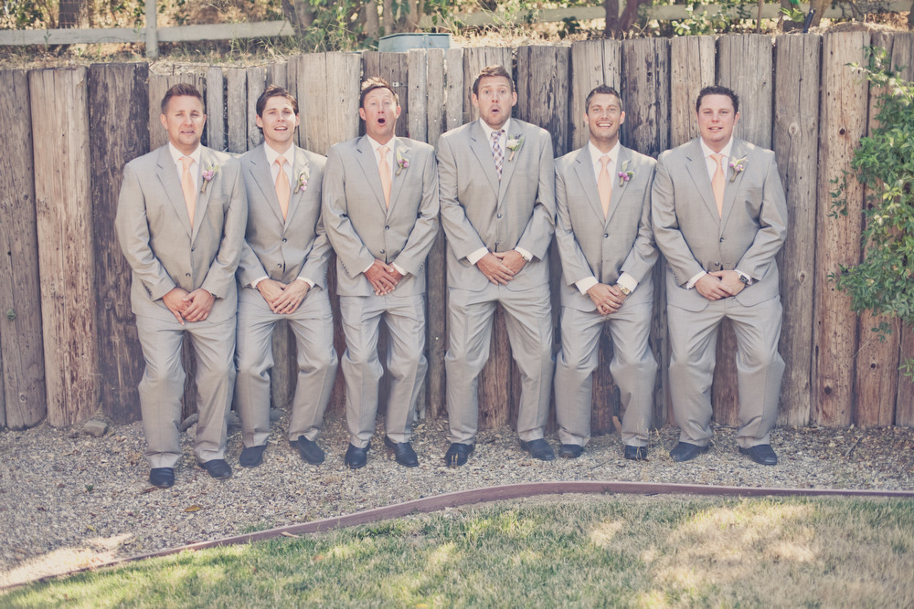 country wedding funny groomsmen shot