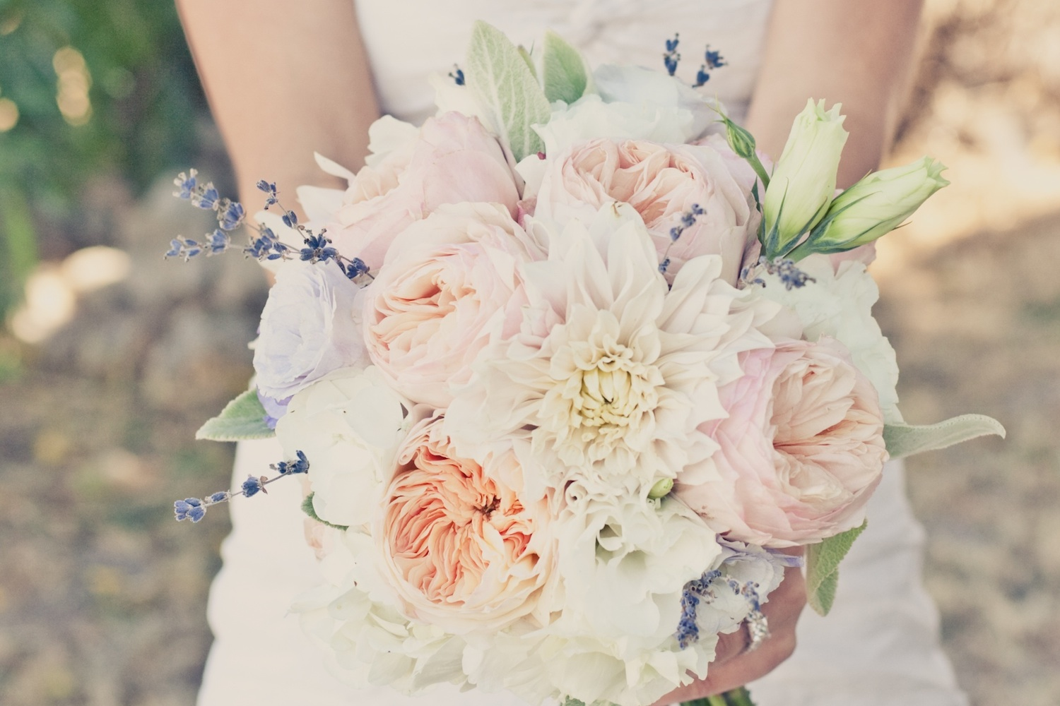Bridal Bouquet With Color : Elegant real weddings lavender peach wedding colors