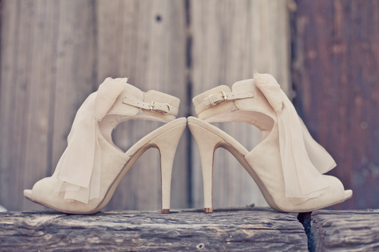 elegant real weddings lavender peach wedding colors cream bridal heels
