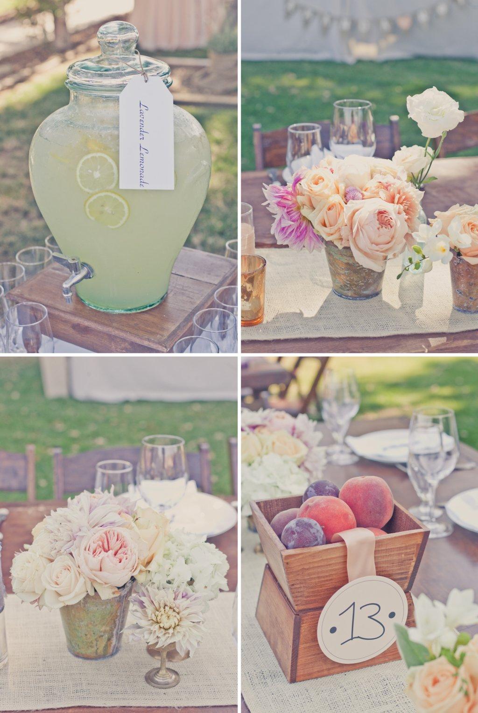 Elegant Outdoor Wedding Romantic Colors Peach Lavender Weddings