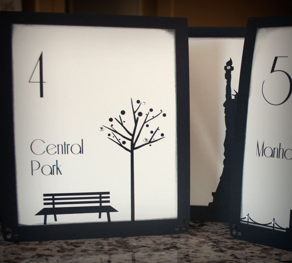 cream black wedding colors table numbers