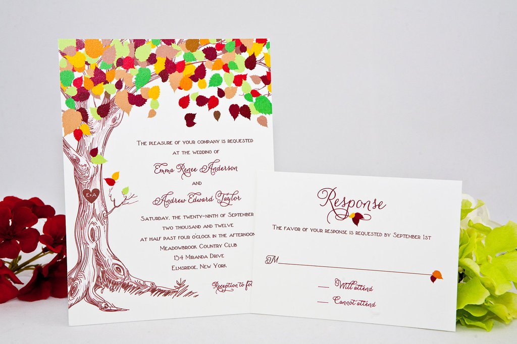 wedding finds for fall weddings colorful invitations