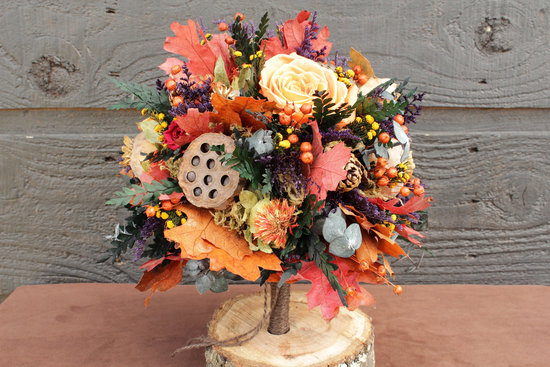 handmade wedding finds for fall weddings bridal bouquet alternative 1