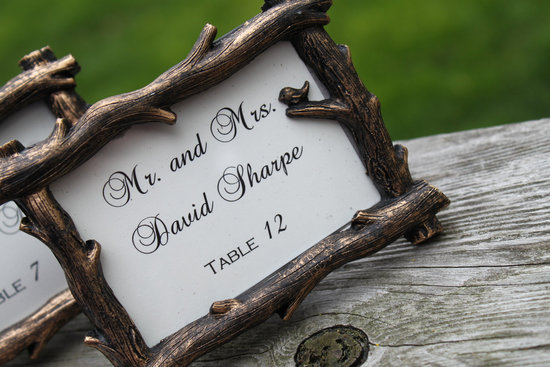 handmade wedding finds for fall weddings escort card frames