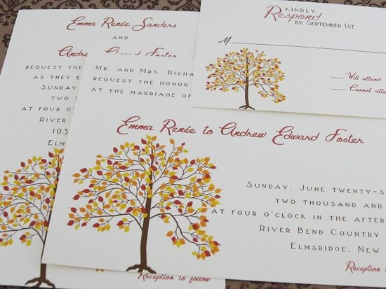 handmade wedding finds for fall weddings invitations 1