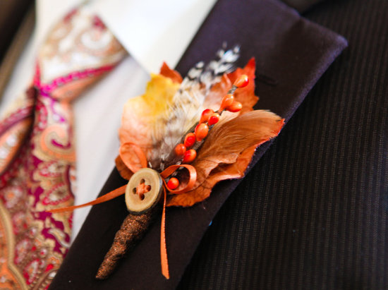 handmade wedding finds for fall weddings rustic boutonniere