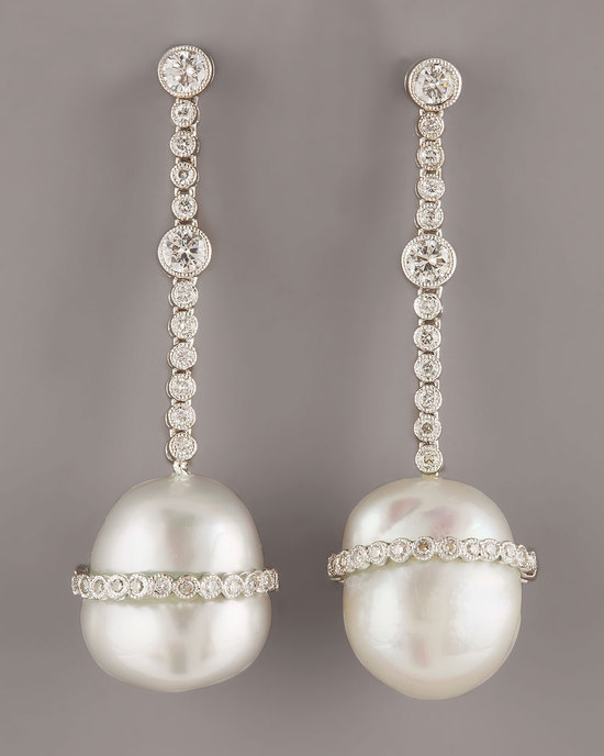wedding splurge top 10 for fall 2012 diamond pearl earrings