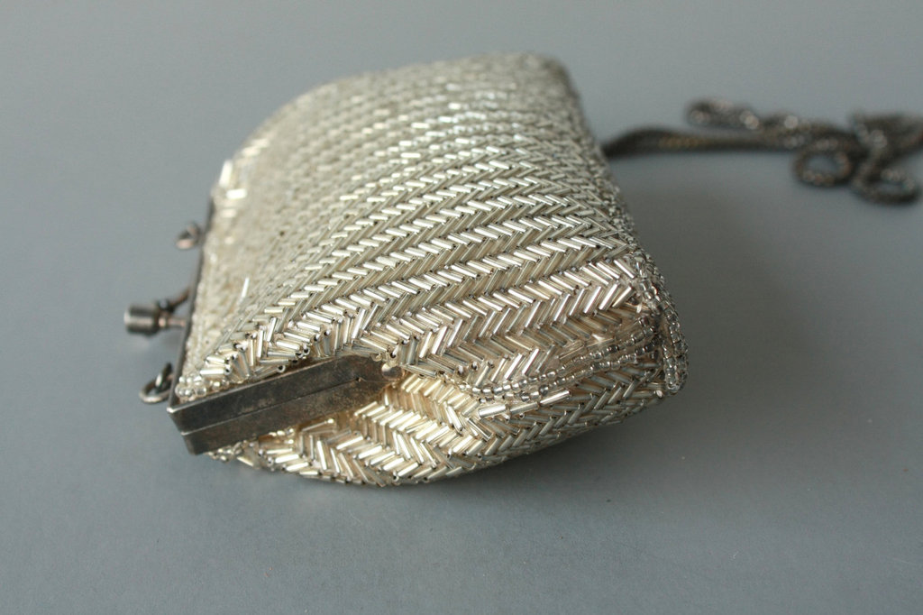 Something Old wedding accessories for brides beaded clutch 1960s 2