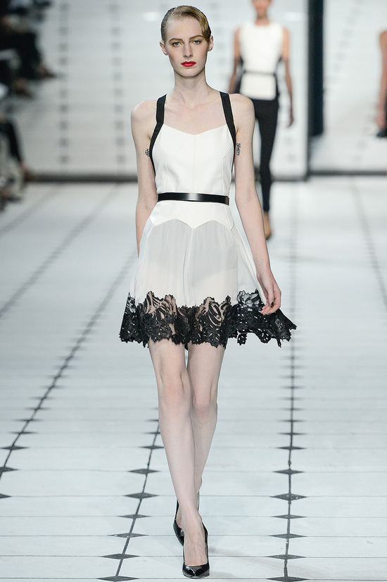 runway to white aisle jason wu rtw ss2013 LWD with touches of black