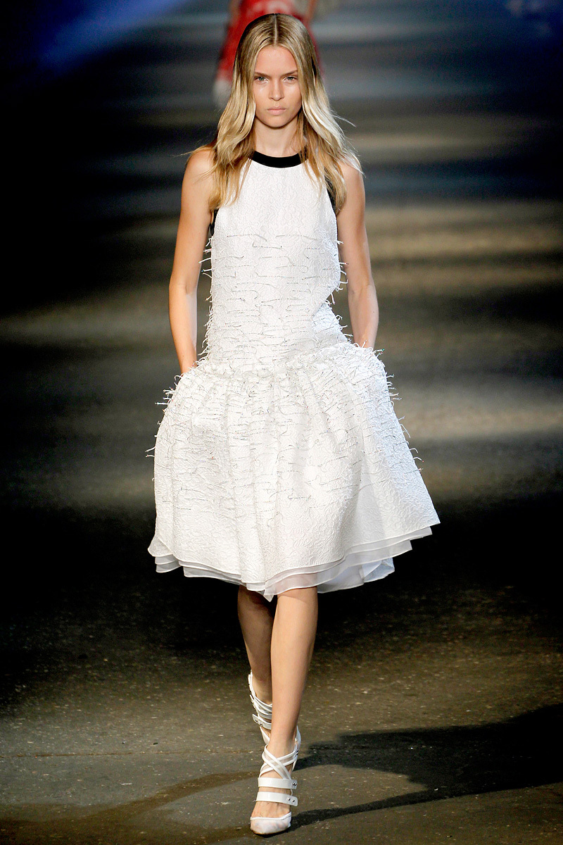 bridal style inspiration from NY fashion week ss2013 LWD with pop of black Prabal Gurung