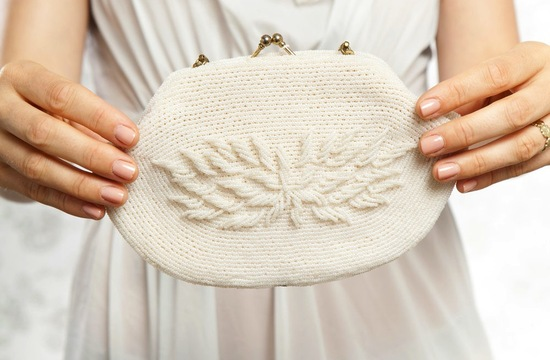 Something Old wedding accessories for brides beaded clutch 1