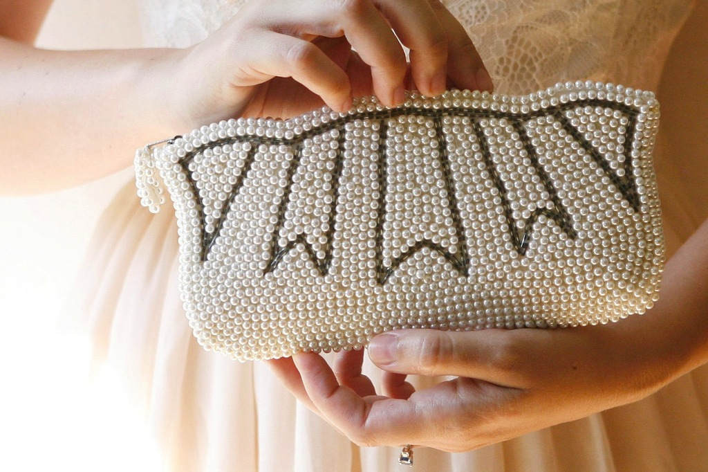 Something Old wedding accessories for brides beaded clutch 3