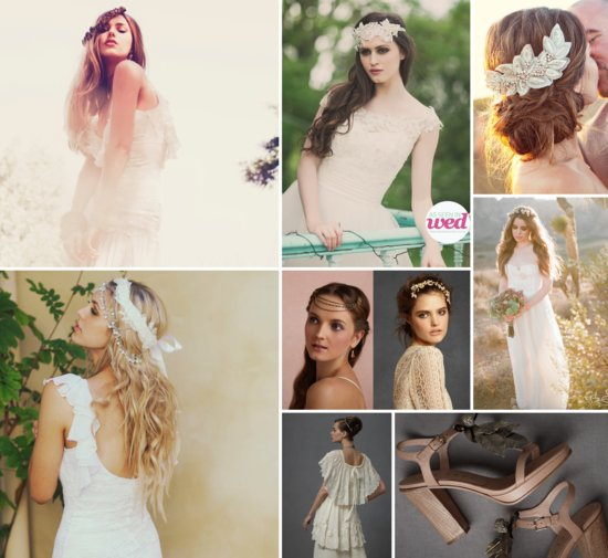 Bride's Style Guide: Bohemian wedding day look