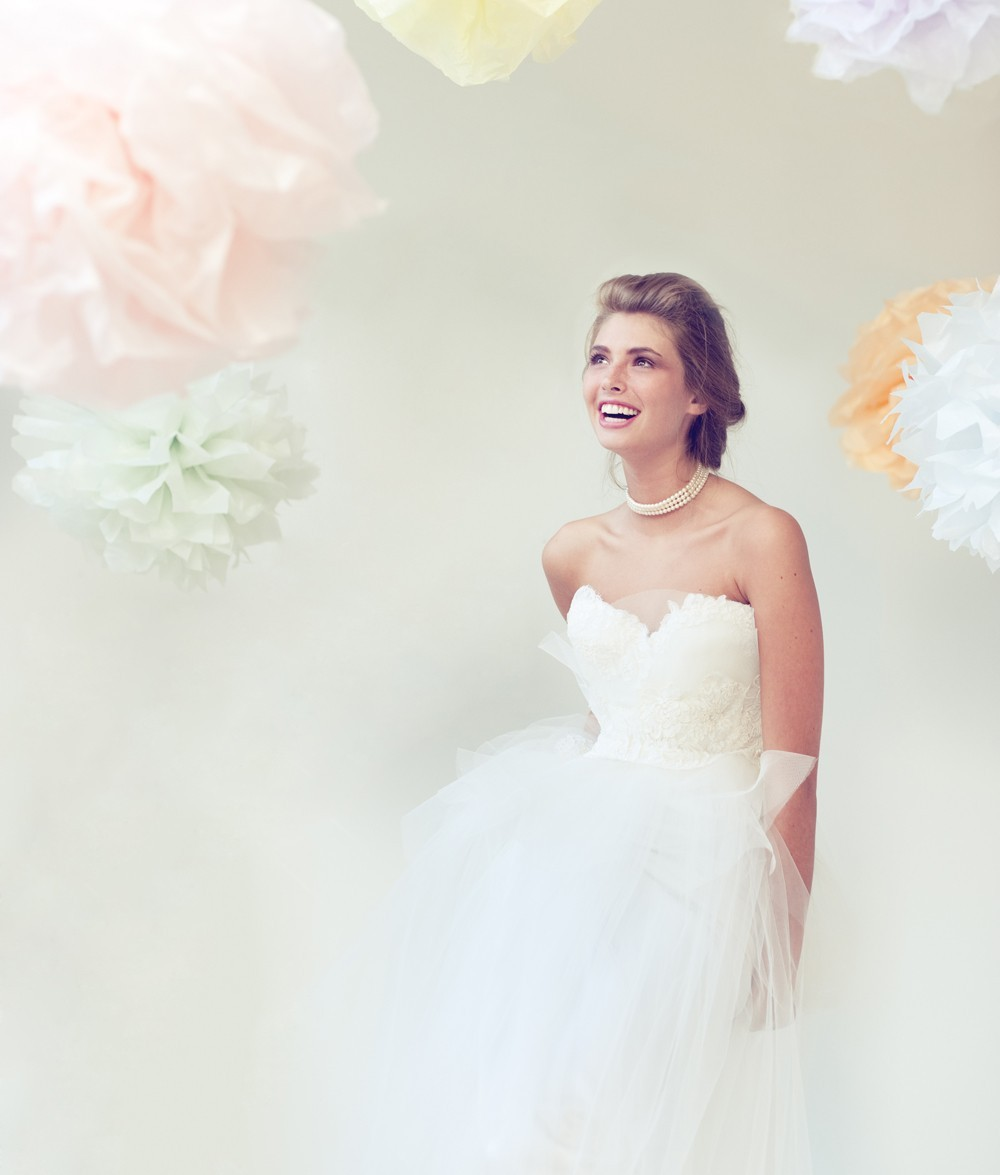 brides style guide white aisle dressing by wedding style Claire LaFaye classic ballgown