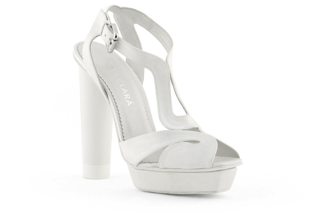 wedding shoes bridal heels by Rosa Clara 2013 chunky sandal
