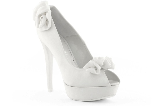 wedding shoes bridal heels by Rosa Clara 2013 rosette embellished