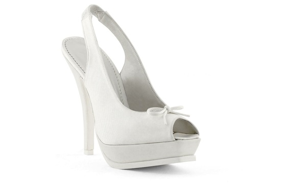 wedding shoes bridal heels by Rosa Clara 2013 white ballet platforms