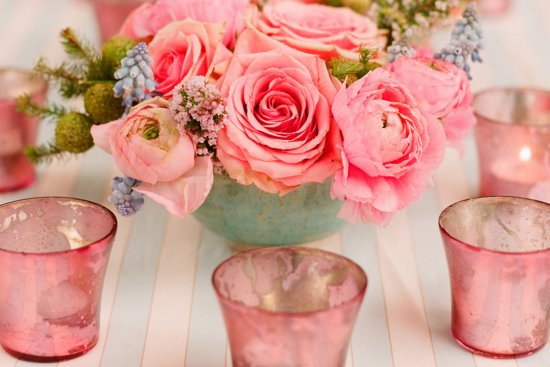 romantic outdoor wedding with Anthropologie inspired decor stunning centerpieces