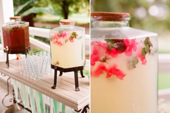 romantic outdoor wedding with Anthropologie inspired decor details signature drinks