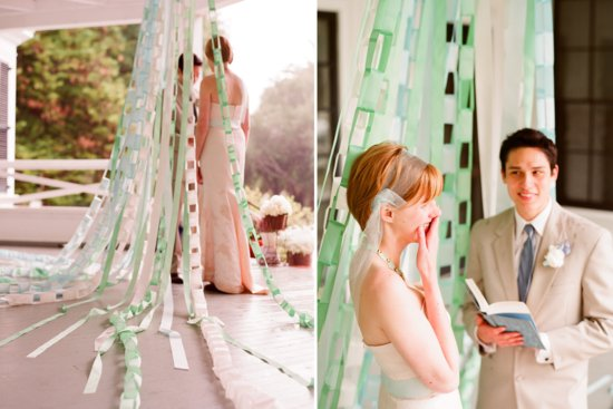 romantic outdoor wedding with Anthropologie inspired decor details DIY backdrop