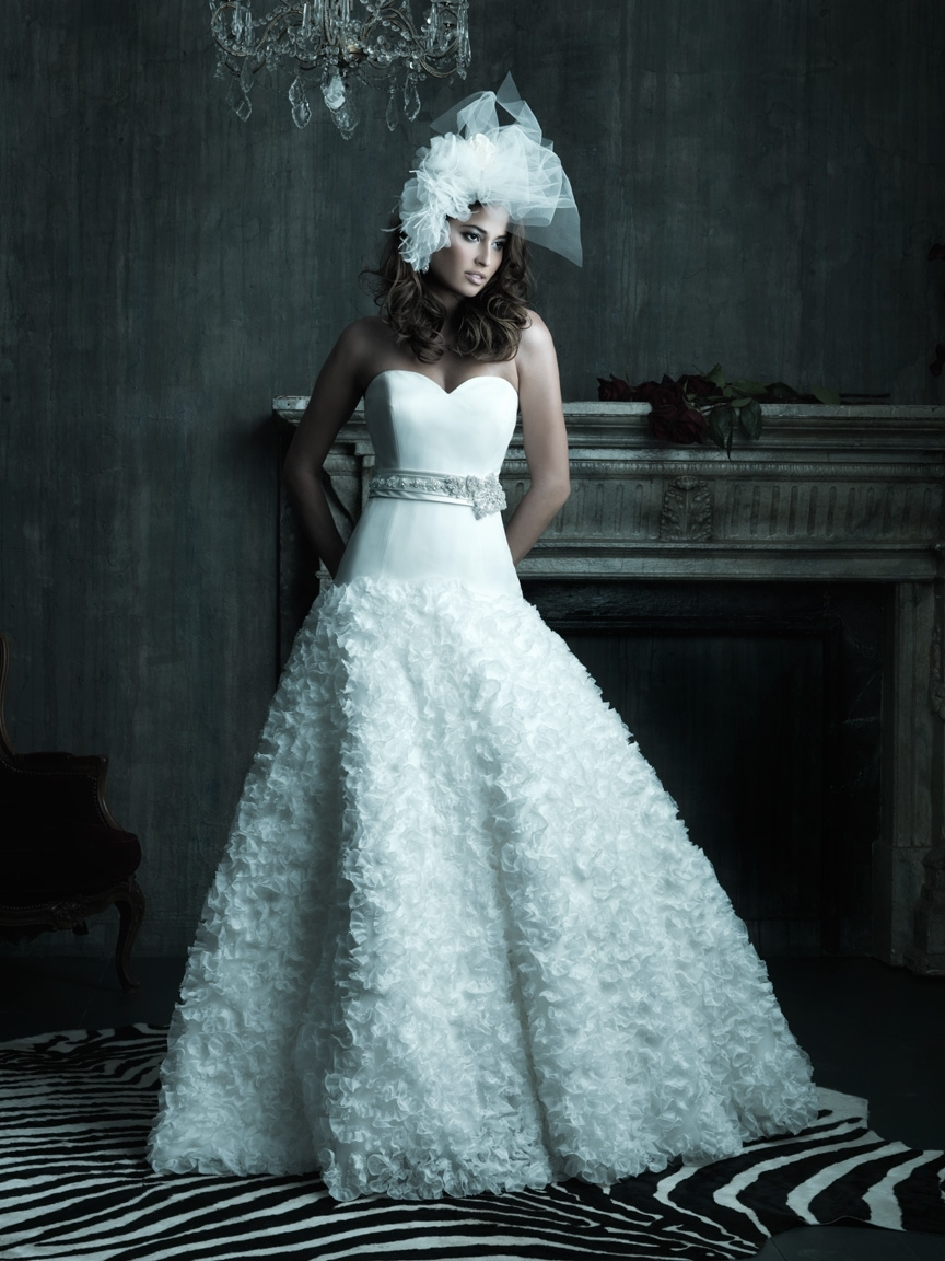 2013 wedding dress Allure Couture bridal gowns c201