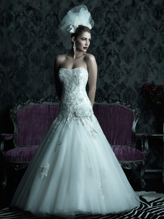 2013 wedding dress Allure Couture bridal gowns c231 1