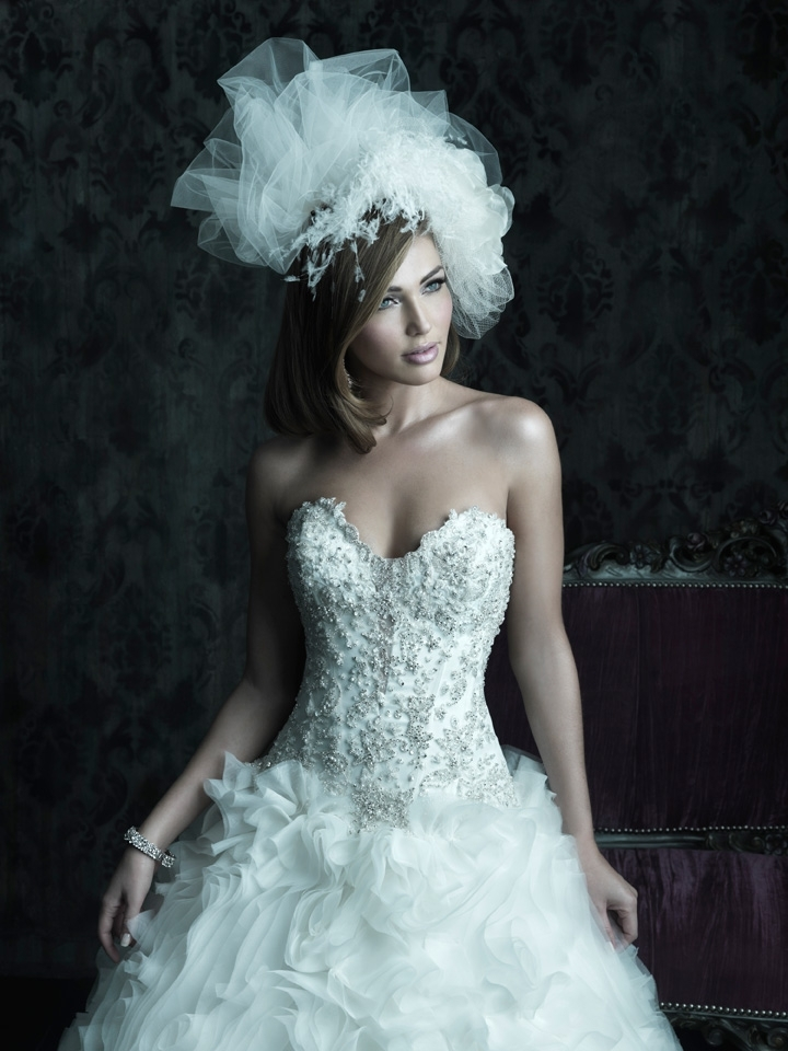 2013 wedding dress Allure Couture bridal gowns c229 3