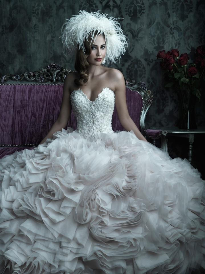 2013 wedding dress Allure Couture bridal gowns c229 4