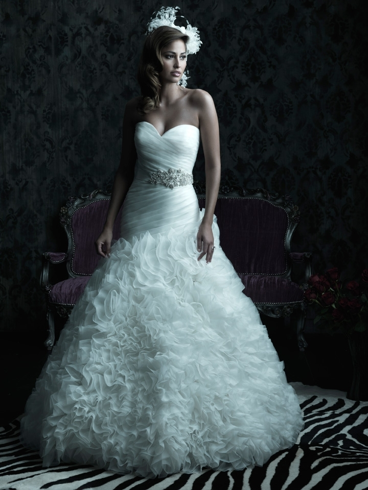 2013 wedding dress Allure Couture bridal gowns c224 ivory