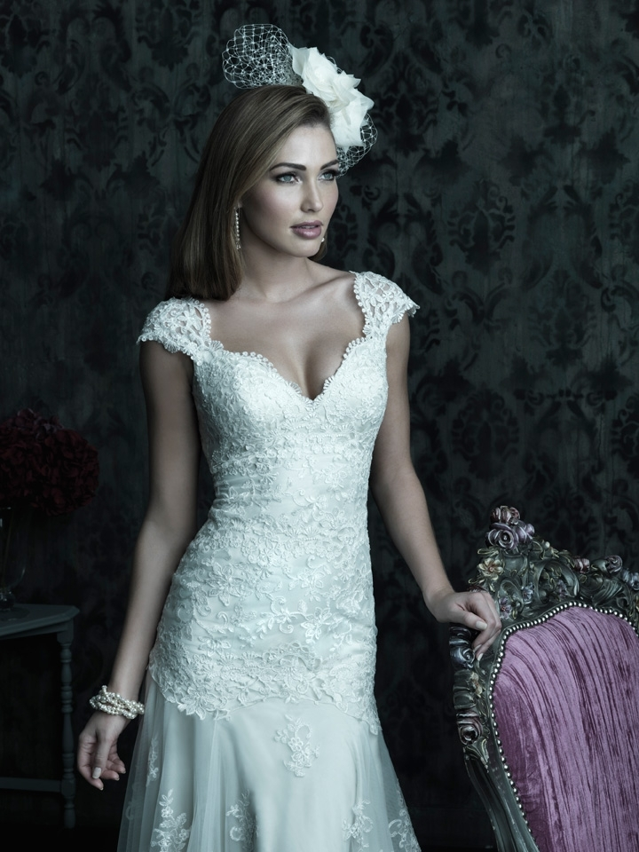 2013 wedding dress Allure Couture bridal gowns c223 detail