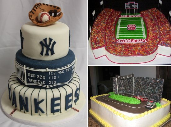 sports themed grooms cakes baseball nascar