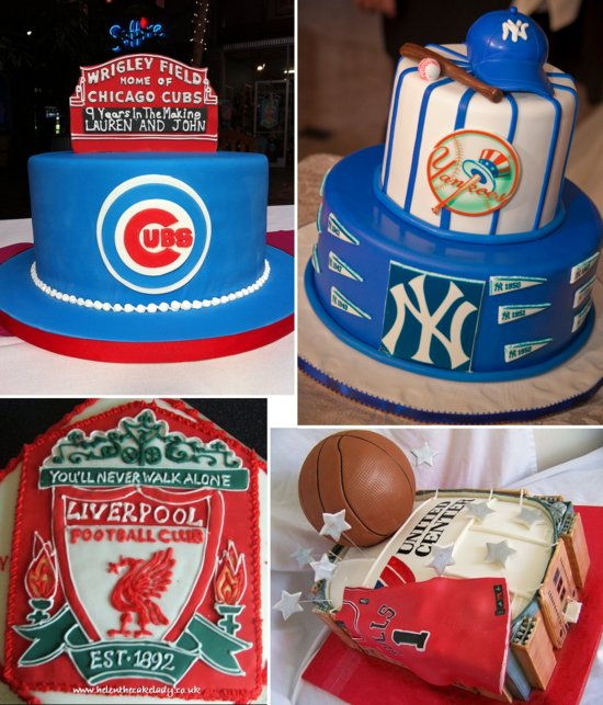 sports themed grooms cakes baseball basketball soccer 2