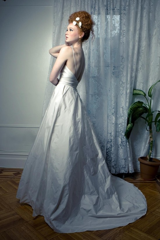 chic wedding dress for under 1000 with pockets from Etsy 2
