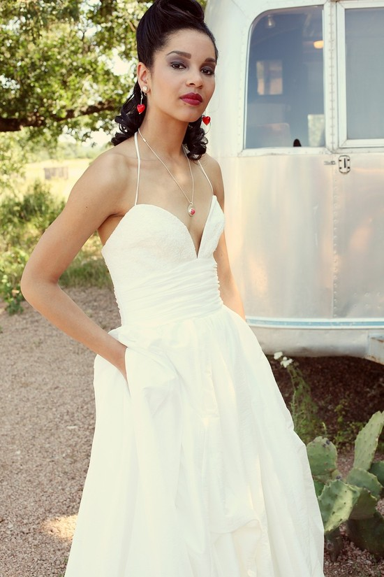 chic wedding dress for under 1000 with pockets from Etsy 1