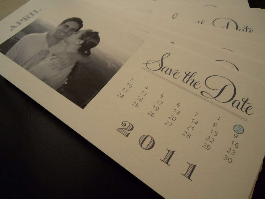 calendar wedding save the dates DIY