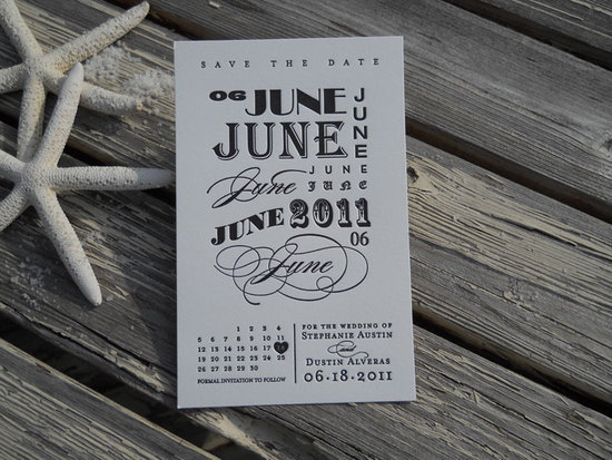 unique wedding save the dates calendar invitations 6