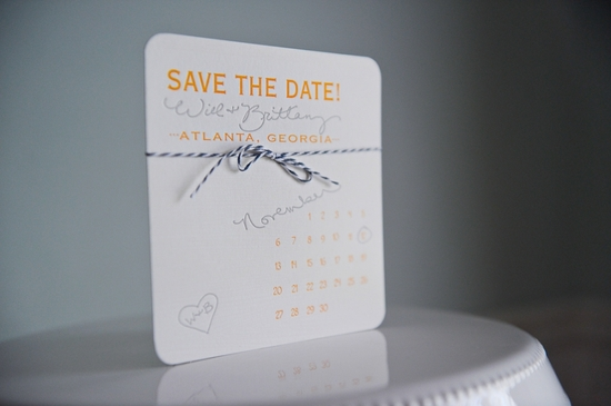 photo of Unique Wedding Invitations: Calendar STDs