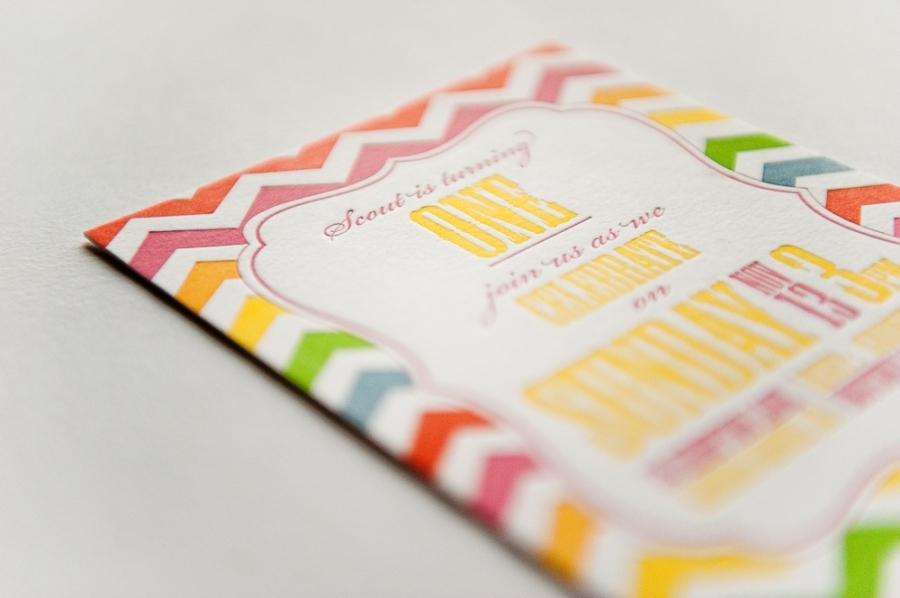 colorful wedding invitation rainbow chevron