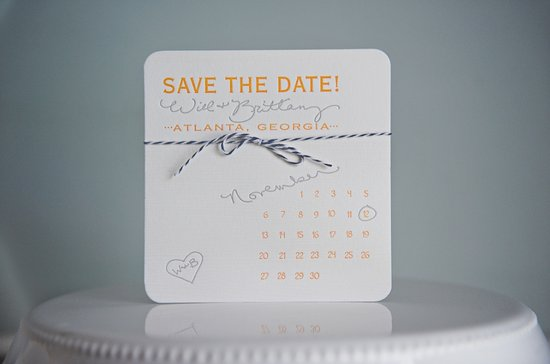 elegant letterpress wedding save the date calendar design marigold navy