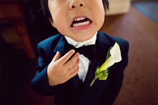 funny wedding photos escape from wedding planning stress Unforgettable Ring Bearers 5