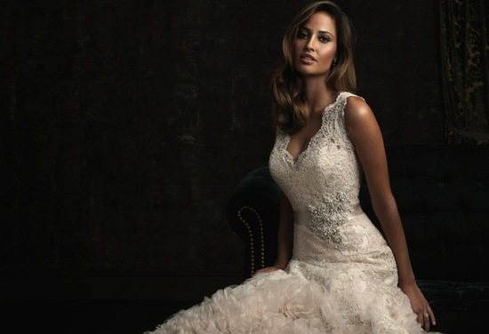 photo of gorgeous 2013 wedding dress by Allure bridal gowns 8961 3