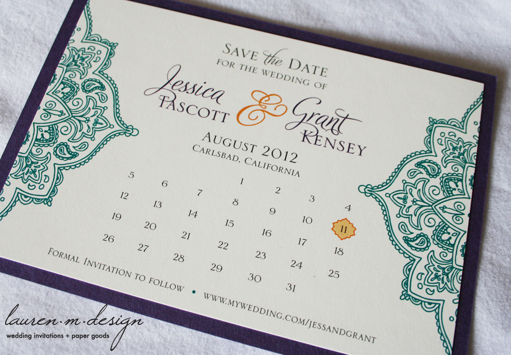 unique wedding save the dates calendar design Invitations on Etsy cultural